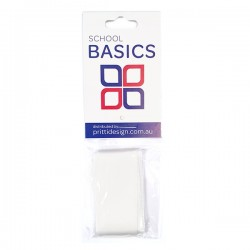 25mm White 1m Cut Ribbon - 10 pieces per pack