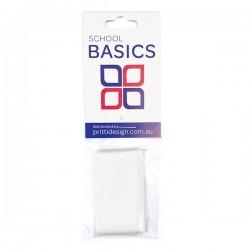 25mm White 1m Cut Ribbon - 10 pieces per pack