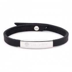 Charlie - School Crested Leather Wristband