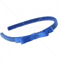 Royal Blue Grosgrain Bow Alice Hairband - 10 per pack