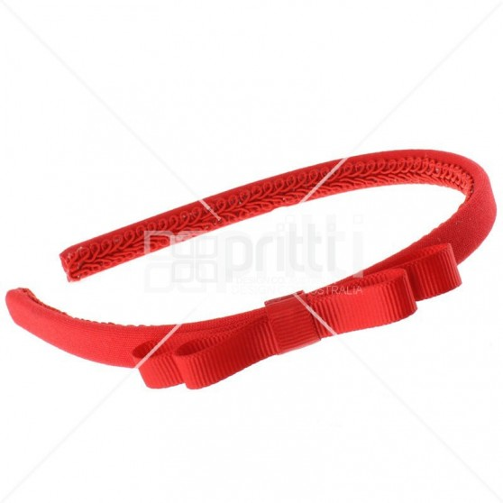 Red Grosgrain Bow Alice Hairband - 10 per pack