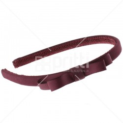 Maroon Grosgrain Bow Hairband - 10 per pack