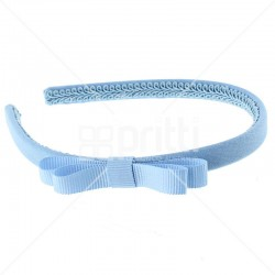 Cornflower Grosgrain Bow Alice Hairband - 10 per pack
