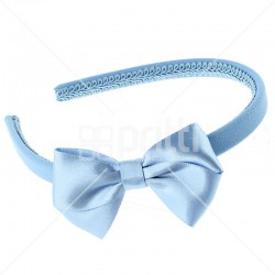 Cornflower Satin Bow Alice Hairband - 10 per pack